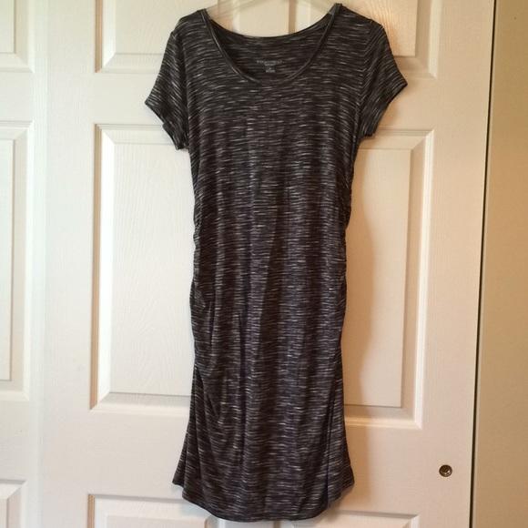 2ca749aeceb18 Liz Lange for Target Dresses & Skirts - Liz Lange grey and white striped  Maternity dress